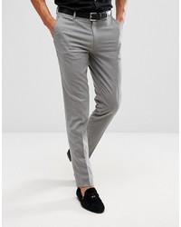 ASOS DESIGN Skinny Smart Trousers In Grey