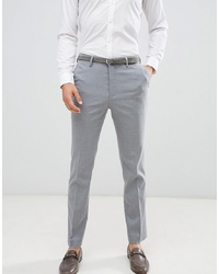 New Look Smart Slim Trousers In Grey