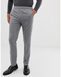 Burton Menswear Smart Slim Trousers In Mid Grey