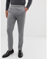 Burton Menswear Smart Slim Trousers In Mid Grey