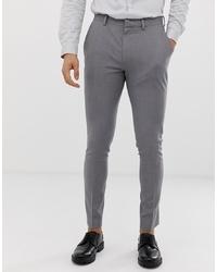 ASOS DESIGN Super Skinny Smart Trousers In Grey