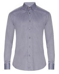 Brioni Button Down Collar Cotton Shirt