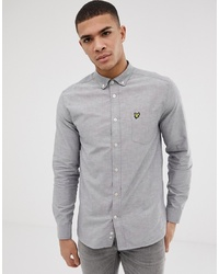 Lyle & Scott Long Sleeve Oxford Shirt In Grey