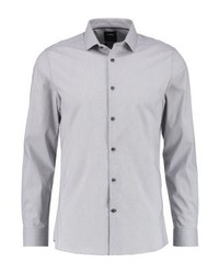 Stretch skinny fit formal shirt grey medium 3779407