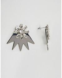 Asos 3d Jewel Through Earrings