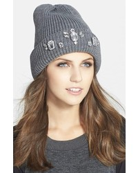 Halogen Jewel Embellished Beanie