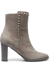 Harlow 80 embellished suede ankle boots gray medium 818594