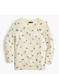 J.Crew Petite Tippi Sweater In Embellished Bee Print