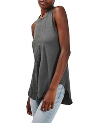 Topshop Embroidered Loose Tank