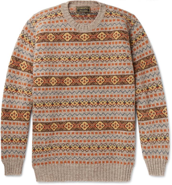cordings fair isle shetland wool sweater - Fair Isle Muster
