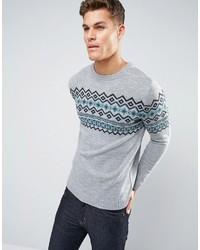 Fairisle sweater in gray medium 1157402
