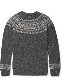 Howlin Fair Isle Mlange Wool Sweater