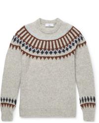 Intarsia Baby Alpaca Blend Sweater