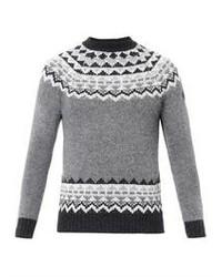Moncler W Fair Isle Intarsia Knit Sweater