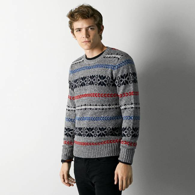 American Eagle Outfitters Heather Grey Fair Isle Sweater | Where ...