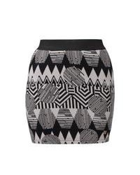 Grey Fair Isle Mini Skirt