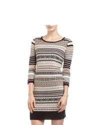Grey Fair Isle Sweater Dress