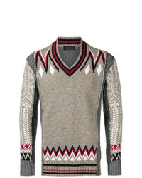 Diesel Black Gold Contrasting Panel Knitted Sweater