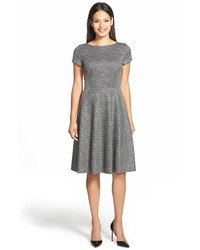 Grey Fit and Flare Dress