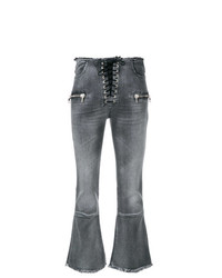 Unravel Project Lace Up Cropped Jeans