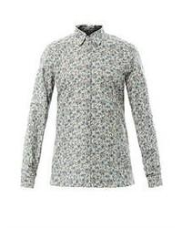 Grey Floral Long Sleeve Shirt