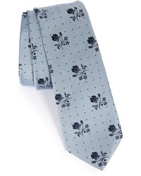 Vintage floral silk tie medium 601537