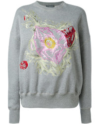 Grey Floral Sweatshirt