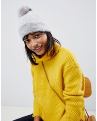 ASOS DESIGN Fluffy Beanie With Faux