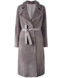 Yves Salomon Long Lamb Fur Coat