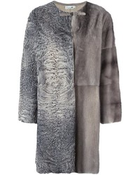 Manzoni 24 patchwork fur coat medium 1315511