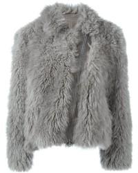Brunello Cucinelli Zipped Fur Coat
