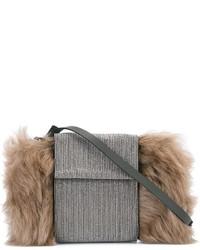 Brunello Cucinelli Fur Detail Crossbody Bag