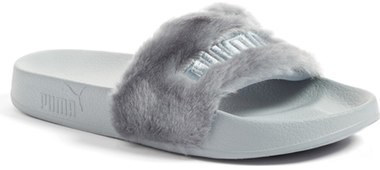 best website cc743 471c0 £71, Puma Fenty By Rihanna Leadcat Fenty Faux Fur Slide Sandal