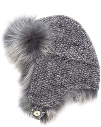 Inverni Coyote Fur Boucl Trapper Hat