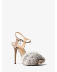 Michael Kors Faye Suede And Fur Sandal