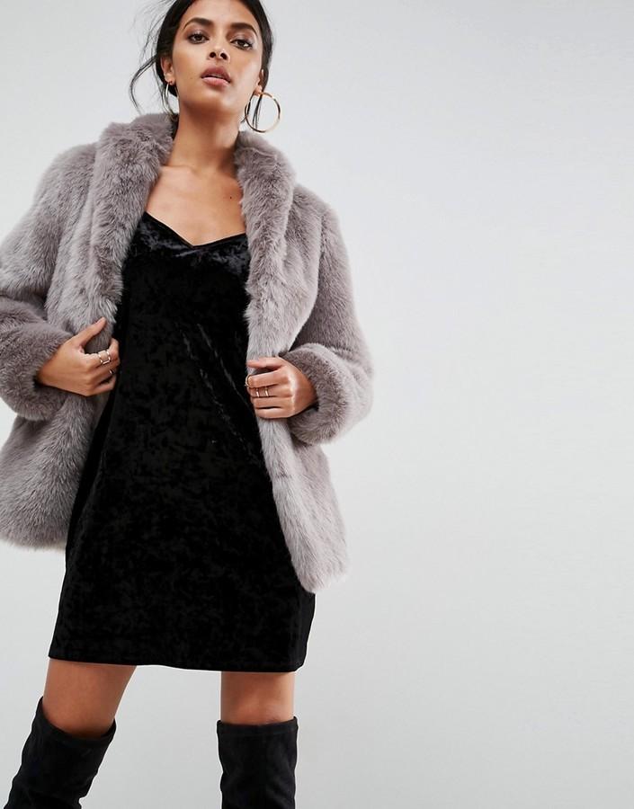 d35f8621248 ... Asos Coat In Vintage Faux Fur ...