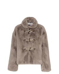 Golden Goose Deluxe Brand Faux Fur Satin Lined Jacket