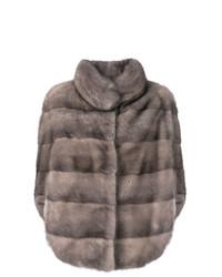 Romea slit sleeves fur jacket medium 8265288