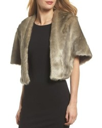 Grey Fur Shrug