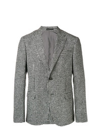 Z Zegna Gingham Fitted Blazer