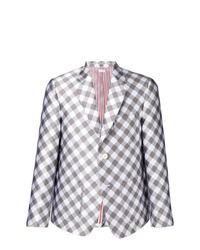 Thom Browne Patch Pocke Gingham Sack Sport Coat