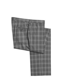 Grey Gingham Wool Dress Pants