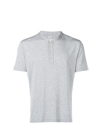 Eleventy Buttoned Crew Neck T Shirt