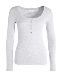 Zalando Essentials Long Sleeved Top Light Grey Melange