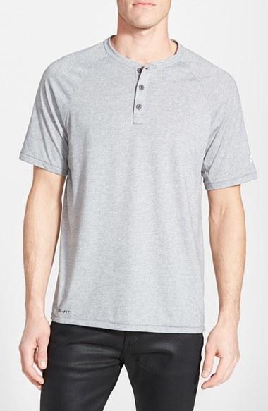 1c1adecc2 Nike Short Sleeve Dri Fit Henley, £31 | Nordstrom | Lookastic UK