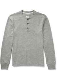 rag & bone Slim Fit Mlange Cotton Blend Jersey Henley T Shirt