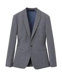 Mango Zena Suit Jacket Medium Heather Grey