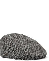 Lock & Co Hatters Glen Herringbone Wool Tweed Flat Cap