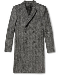 Grey Herringbone Overcoat