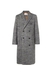 Salle Privée Alain Double Breasted Herringbone Wool Blend Coat